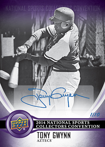 2014-Upper-Deck-National-Sports-Collectors-Convention-Wrapper-Redemption-Autograph-Tony-Gwynn