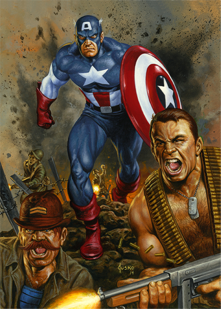 Joe-Jusko-Marvel-Masterpiece-Artist-Spotlight-Upper-Deck-Captain-America