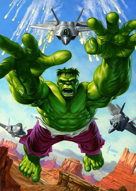 Joe-Jusko-Marvel-Masterpiece-Artist-Spotlight-Upper-Deck-Hulk
