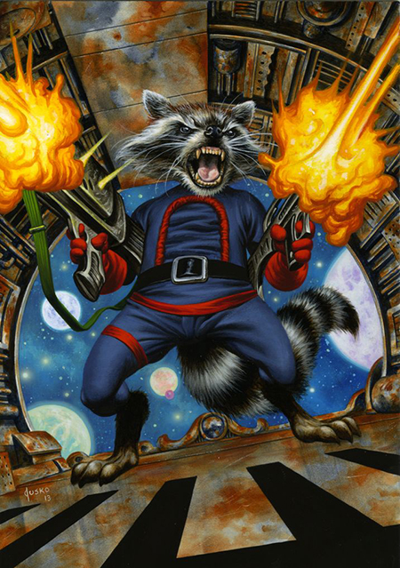 Joe-Jusko-Marvel-Masterpiece-Artist-Spotlight-Upper-Deck-Rocket-Raccoon