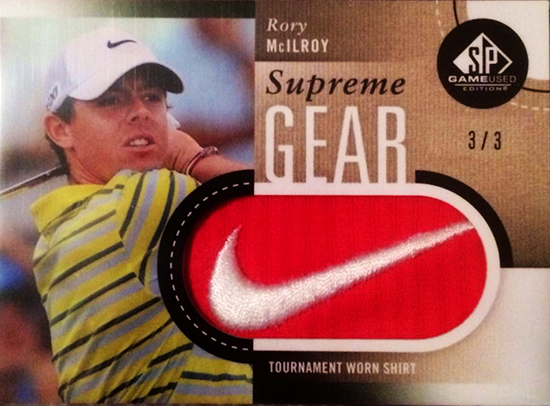 Rory-McIlroy-Golf-Collectibles-Card-Rookie-Best-2014-SP-Game-Used-Golf-Nike-Patch