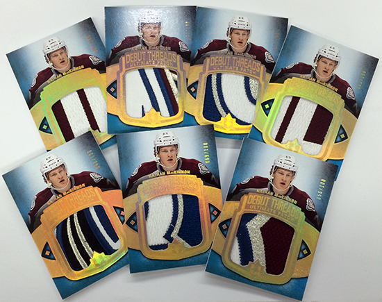 2013-14-NHL-Ultimate-Collection-Debut-Threads-Rookie-Gallery-Patch-Cards-Nathan-MacKinnon