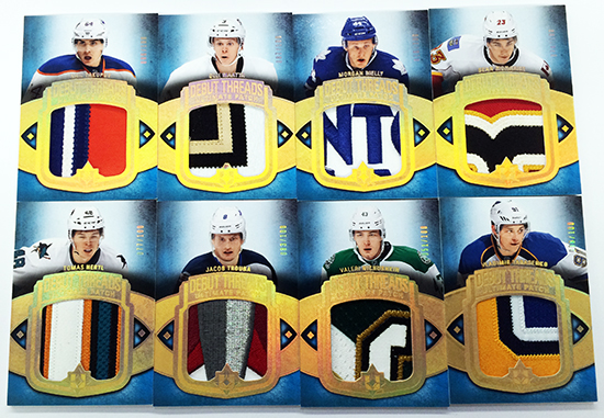 2013-14-NHL-Ultimate-Collection-Debut-Threads-Rookie-Gallery-Patch-Cards