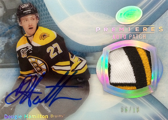 2013-14-NHL-Upper-Deck-Ultimate-Collection-Autograph-Rookies-Ice-Premieres-Patch-Dougie-Hamilton