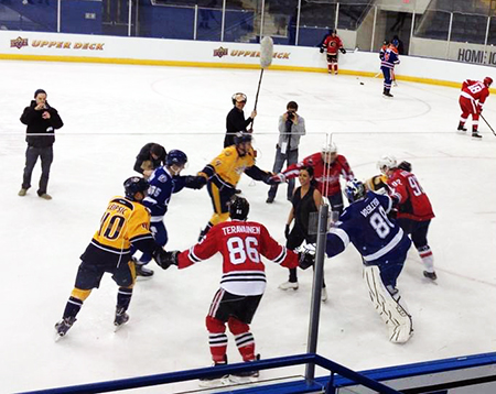 2014-NHLPA-Rookie-Showcase-Game-Figure-Skating-Group-Ciricle-Ring-Rosey-Upper-Deck