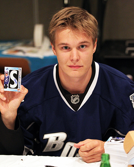 2014-NHLPA-Rookie-Showcase-Letterman-Vlad-Namestnikov-Signing-Autograph
