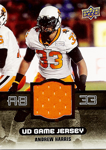 2014-Upper-Deck-CFL-Game-Jersey-Andrew-Harris