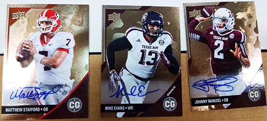 2014-Upper-Deck-Conference-Greats-SEC-Autographed-Cards-Stafford-Manziel-Evans