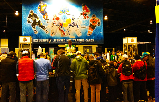 2014-Fall-Sportscard-Memorabilia-Expo-Upper-Deck-Booth-Busy-Wrapper-Redemption-Program