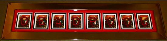2014-Marvel-Premier-Upper-Deck-Deadpool-Code-Name-Letter-Card-Set-Complete-How-Where-Framed-1