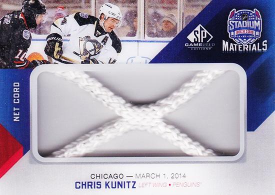 2014-NHL-Stadium-Series-Blackhawks-Penguins-Chris-Kunitz-Net-Cord-SP-Game-Used