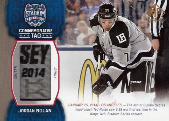 2014-NHL-Stadium-Series-Kings-Ducks-Jordan-Nolan-Tag-SP-Game-Used