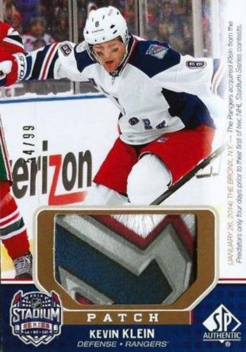 2014-NHL-Stadium-Series-Rangers-Devils-Kevin-Klein-Patch-SP-Game-Used