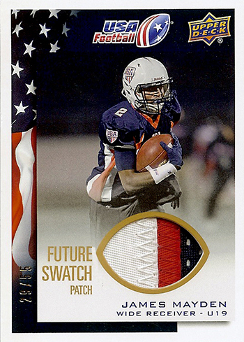 2014-Upper-Deck-USA-Football-Future-Swatch-Patch-James-Mayden