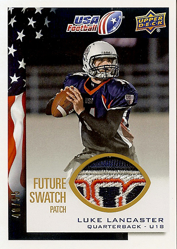 2014-Upper-Deck-USA-Football-Future-Swatch-Patch-Luke-Lancaster