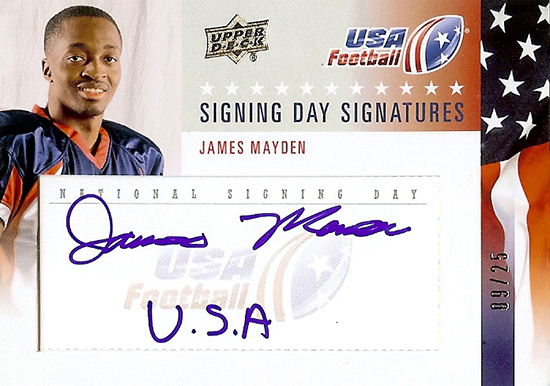 2014-Upper-Deck-USA-Football-Signing-Day-Signatures-James-Mayden