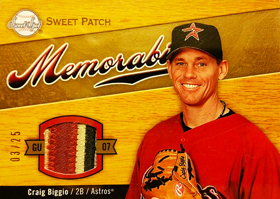 2015-Baseball-Hall-of-Fame-Craig-Biggio-Houston-Upper-Deck-Sweet-Spot-Patch-Card