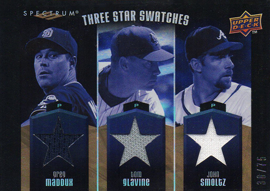 2015-Baseball-Hall-of-Fame-John-Smoltz-Spectrum-Maddux-Glavine-Jersey-Card