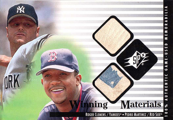 2015-Baseball-Hall-of-Fame-Pedro-Martinez-Roger-Clemens-Game-Used-Ball-Card