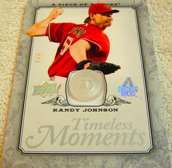 2015-Baseball-Hall-of-Fame-Randy-Johnson-Upper-Deck-Timeless-Moments-Button-Card