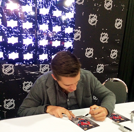 2015-NHL-All-Star-Fan-Fair-Weekend-Best-Moments-Upper-Deck-Autograph-Session-Aaron-Ekblad