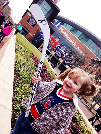 2015-NHL-All-Star-Fan-Fair-Weekend-Best-Moments-Upper-Deck-UDRAK-Young-Blue-Jacket-Fan