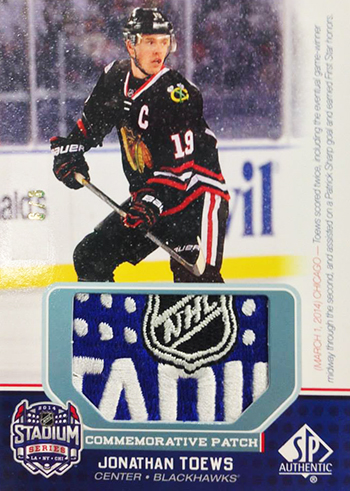 Live-2014-15-NHL-SP-Game-Used-Winter-Classic-Commemorative-Patch-Jonathan-Toews