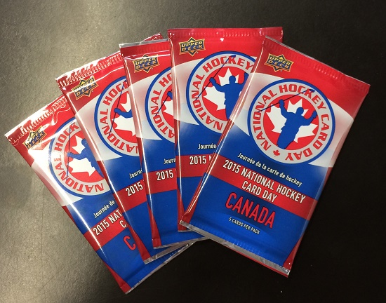 5 packs of National Hockey Card Day Canada Packs!