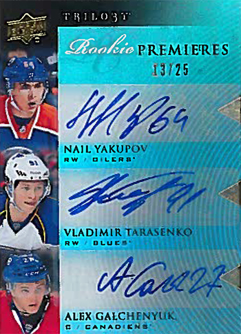Brag Photo: Vladimir Tarasenko Sits Down with Upper Deck to Sign Rookie Autograph Exchange Cards