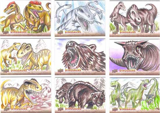2015-Upper-Deck-Dinosaurs-Sketch-Cards-Cleber-Lima-2