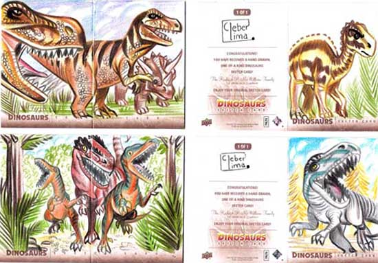 2015-Upper-Deck-Dinosaurs-Sketch-Cards-Cleber-Lima