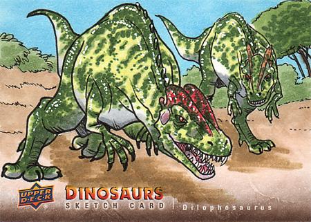 2015-Upper-Deck-Dinosaurs-Sketch-Cards-Dilophosaurus