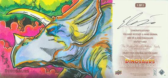 2015-Upper-Deck-Dinosaurs-Sketch-Cards-Elvin-Hernandez-Outside