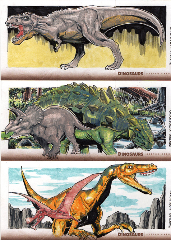 2015-Upper-Deck-Dinosaurs-Sketch-Cards-Rustico-2