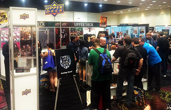 2015-Upper-Deck-Entertainment-GAMA-Trade-Show-Booth-Busy