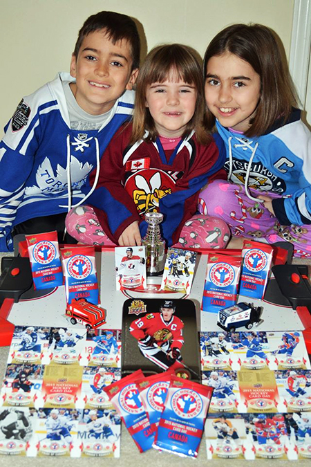 National-Hockey-Card-Day-Three-Cute-Kids-Family-NHCD