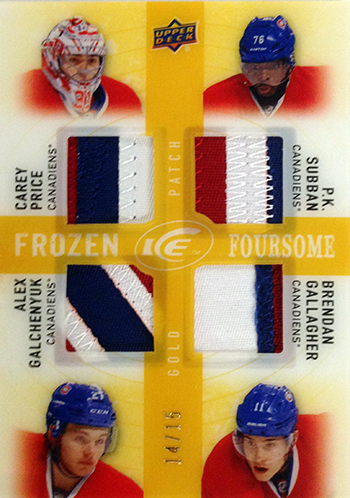 2014-15-NHL-Upper-Deck-Ice-Frozen-Foresome-Gold-Patch-Montreal-Canadiens