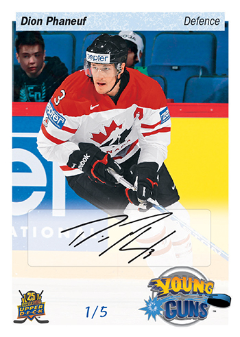 2015-Upper-Deck-25th-Anniversary-Young-Guns-Tribute-Dion-Phaneuf