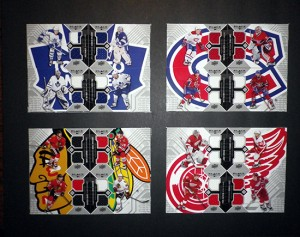 Black-Diamond-Hockey-NHL-Jersey-Puzzle-Cards-Team-1