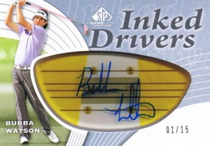 SP-Game-Used-Inked-Drivers-Upper-Deck-Golf-Bubba-Watson-Autograph