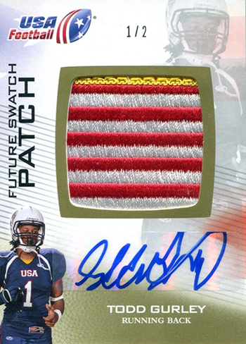 USA-Football-NFL-Draft-2012-Upper-Deck-Todd-Gurley-Game-Used-Patch-Autograph-Card