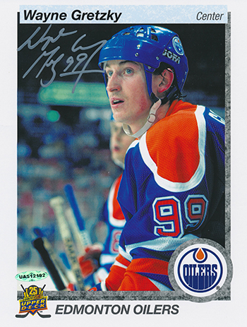 Wayne Gretzky 25th Anniversary Autograph Blow Up