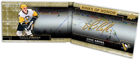 2014 15 nhl ud premier rinks of honor autograph card mario lemieux