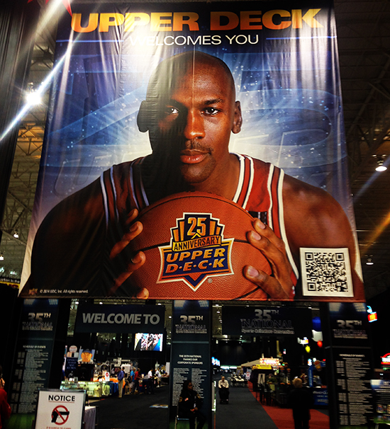 michael jordan national sports collectors convention upper deck