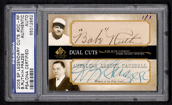 Beckett-Auctions-May-sp-legendary-cuts-ruth-frazee-dual-autograph-cut-curse-bambino