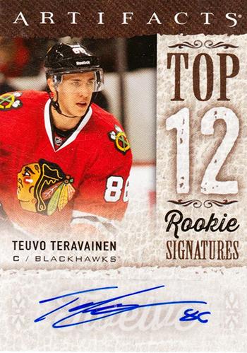 Teuvo-Teravainen-Upper-Deck-Artifacts-Top-12-Autograph-Rookie-Card