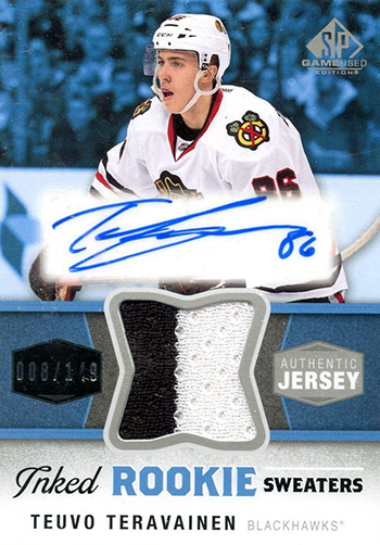 Teuvo-Teravainen-Upper-Deck-SP-Game-Used-Autograph-Rookie-Card