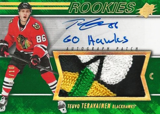 Teuvo-Teravainen-Upper-Deck-SPx-Autograph-Rookie-Card