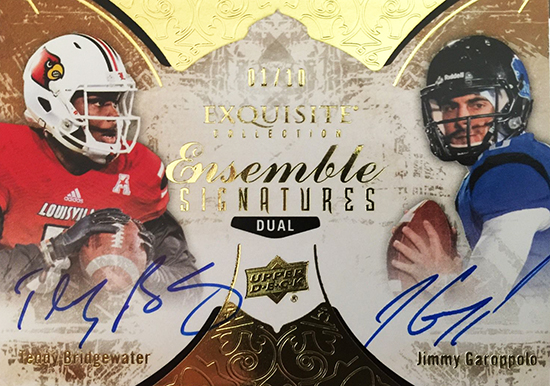 Best-Rookie-Cards-Collect-Valueable-Rare-Jimmy-Garoppolo-Upper-Deck-Exquisite-Autograph-Bridgewater