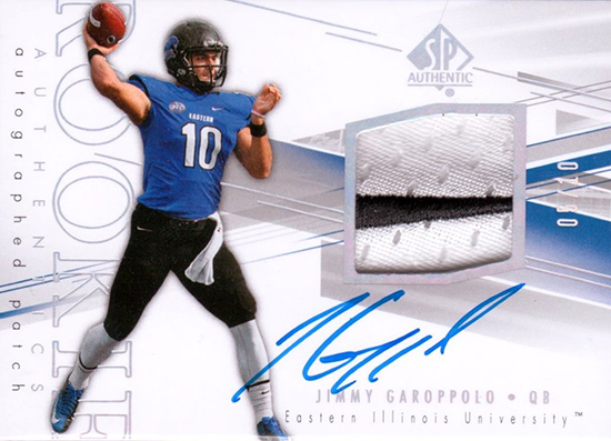 best rookie cards of jimmy garoppolo quarterback new england patriots